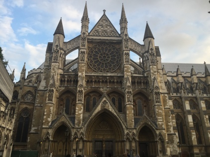 A side entrance to Westminster Abbey