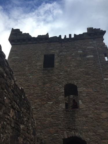The ruined keep of Urquhart Castle