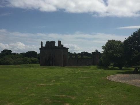 Caerlaverock Castle on a sunny day