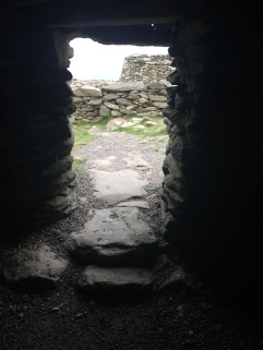 The doorway of an ancient hut in an Irish ring fort