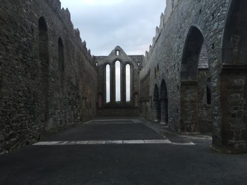 The roofless interior of the Ardfert Cathedral