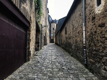 A medieval street in Le Mans