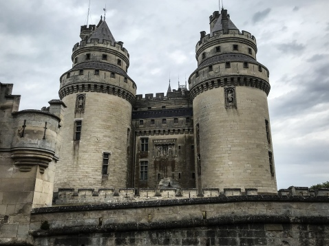 A view of the front of Chateau de Pierrefonds in Piccardie, France used as the castle of Camelot on BBC Merlin