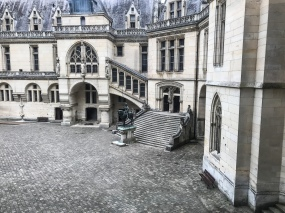 The courtyard of the Chateau de Pierrefonds in Piccardie, France used for the show Merlin on BBC