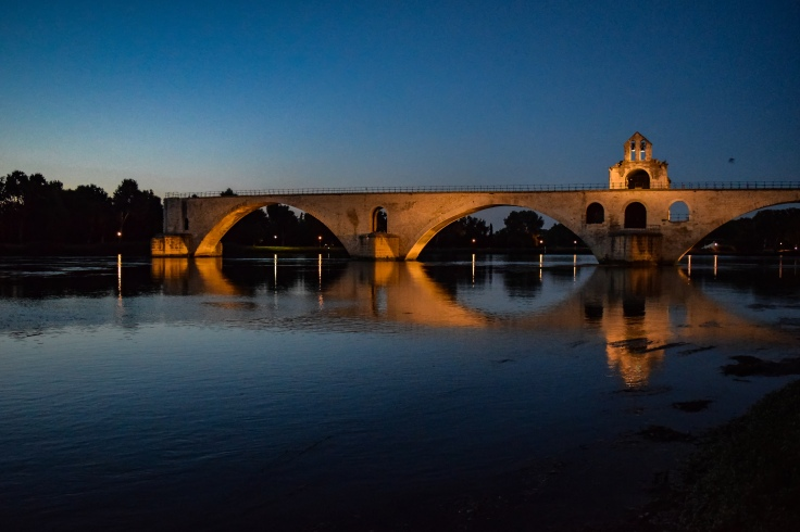 The Pont St. Benezet over the Rhone at dusk