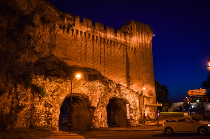 Tunnels recently dug under the ancient ramparts of Avignon to allow easier access to cars
